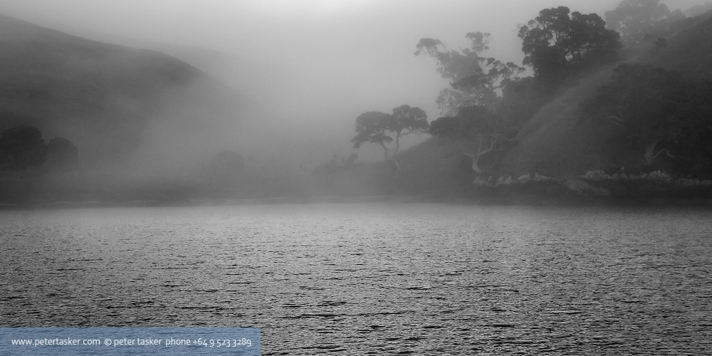 From a series of photographs taken while at anchor in Mullet Bay, Motutapu Island, Hauraki Gulf, New Zealand.