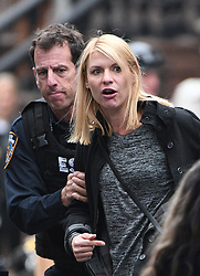 October 20, 2016 - New York, New York, United States - Actress Claire Danes was on the Brooklyn set of the TV show 'Homeland' on October 20 2016 in New York City  (Credit Image: © Curtis Means/Ace Pictures via ZUMA Press)