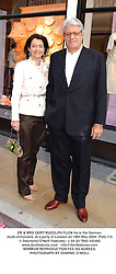 DR & MRS GERT RUDOLPH FLICK he is the German multi-millionaire, at a party in London on 18th May 2004.PUG 115