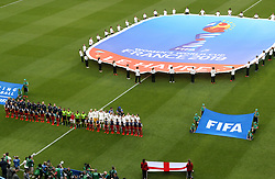 A general view of the opening ceremony during the FIFA Women's World Cup, Quarter Final, at Stade Oceane, Le Havre, France.