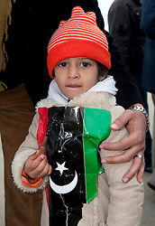 © under license to London News Pictures. 25/02/2011. A girl shows off a bullet she found in her home in Benghazi, Libya. Photo credit should read Michael Graae/London News Pictures