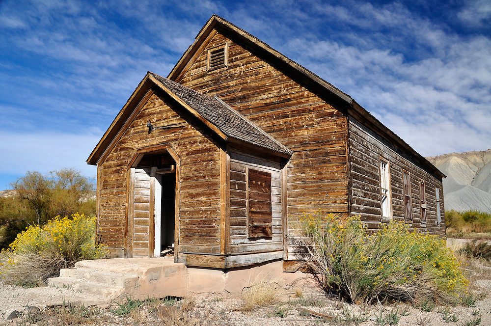 Historic church in Cainville, Utah.