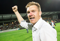 Simon Rozman, head coach of NK Domzale celebrates after winning during football match between NK Domzale and NK Olimpija Ljubljana in Final of Slovenian Cup 2017, on May 31, 2017 in Stadium Bonifika, Koper / Capodistria, Slovenia. Photo by Vid Ponikvar / Sportida