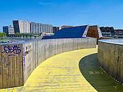 De Luchtsingel in Rotterdam, een verbinding tussen Rotterdam Noord en het centrum van Rotterdam - De Luchtsingel in Rotterdam, The Netherlands, a connection between Rotterdam North and the center of Rotterdam.