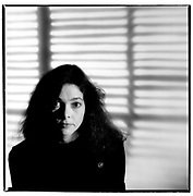 Portrait of American folk artist/musician Nanci Griffith taken in London 1985.<br /> <br /> © Adrian Boot <br /> Credit all Uses