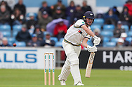 Wicket! Gary Ballance of Yorkshire knicks the ball to the kepper off the bowling of Keith Barker of Hampshire during the opening day of the Specsavers County Champ Div 1 match between Yorkshire County Cricket Club and Hampshire County Cricket Club at Headingley Stadium, Headingley, United Kingdom on 27 May 2019.