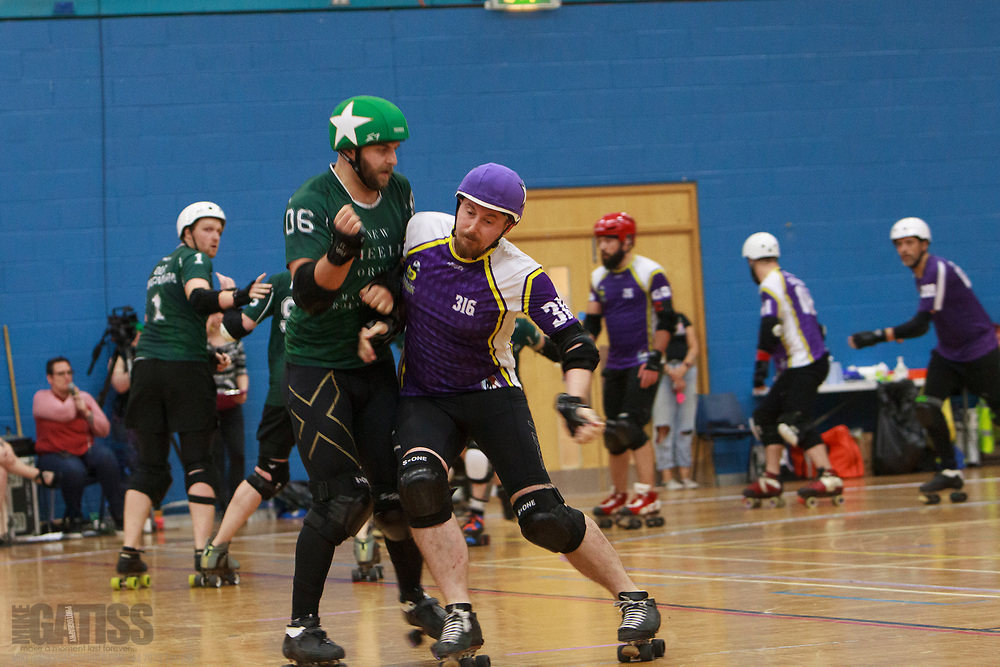New Wheeled Order face Lincolnshire Thugly Ducklings in the Tier 1 MRDA British Champs Playoffs Final 2019 at Fenton Manor Sports Complex, Stoke-on-Trent, 2019-09-22