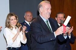 "03.05.2011, Mapfre Foundation in Madrid, ESP, Accreditation ceremony of the 4 th Promotion of ""Honorary Ambassadors Spain Brand"", im Bild Princess Letizia of Spain and Vicente del Bosque during Accreditation ceremony of the 4 th Promotion of ""Honorary Ambassadors Spain Brand"" at Mapfre Foundation in Madrid. EXPA Pictures © 2011, PhotoCredit: EXPA/ Alterphotos/ ALFAQUI +++++ ATTENTION - OUT OF SPAIN / ESP +++++"