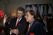 William Shawcross and Trevor Grove. Olga Polizzi and Rocco Forte host a party to celebrate the re-opening of Brown's Hotel  after a  £19 million renovation. Albermarle St. London. 12 December 2005. ONE TIME USE ONLY - DO NOT ARCHIVE  © Copyright Photograph by Dafydd Jones 66 Stockwell Park Rd. London SW9 0DA Tel 020 7733 0108 www.dafjones.com