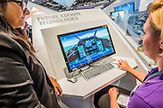 A simulator on the Bae Systems Stand - The DSEI (Defence and Security Equipment International) exhibition at the Excel Centre, Docklands, London UK 15 Sept 2015