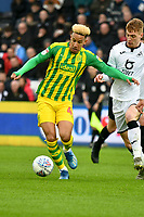 Football - 2019 / 2020 Sky Bet (EFL) Championship - Swansea City vs. West Bromwich Albion<br /> <br /> Callum Robinson of WBA & Jay Fulton of Swansea City, at The Liberty Stadium.<br /> <br /> COLORSPORT/WINSTON BYNORTH