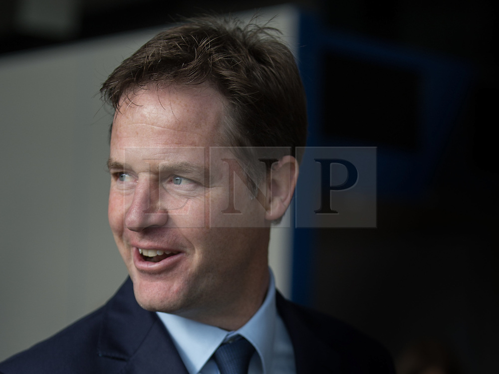 © Licensed to London News Pictures . 04/10/2014 . Glasgow , UK . Liberal Democrat leader NICK CLEGG  arrives . The Liberal Democrat Party Conference 2014 at the Scottish Exhibition and Conference Centre in Glasgow . Photo credit : Joel Goodman/LNP