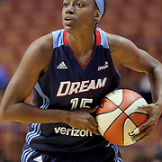 UNCASVILLE, CONNECTICUT- MAY 05:  Tiffany Hayes #15 of the Atlanta Dream in action during the Atlanta Dream Vs Chicago Sky preseason WNBA game at Mohegan Sun Arena on May 05, 2016 in Uncasville. (Photo by Tim Clayton/Corbis via Getty Images)