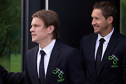 Zlatko Dedic and Andrej Komac at official presentation of Slovenian National Football team for World Cup 2010 South Africa, on May 21, 2010 in Congress Center Brdo at Kranj, Slovenia. (Photo by Vid Ponikvar / Sportida)