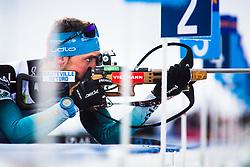 Simon Desthieux (FRA) during the Mass Start Men 15 km at day 4 of IBU Biathlon World Cup 2019/20 Pokljuka, on January 23, 2020 in Rudno polje, Pokljuka, Pokljuka, Slovenia. Photo by Peter Podobnik / Sportida