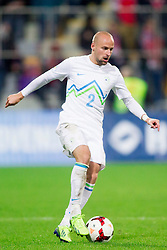 Miso Brecko of Slovenia during the FIFA World Cup 2014 Group E qualification match between Slovenia and Norway on October 11, 2013 in Stadium Ljudski vrt, Maribor, Slovenia. (Photo by Urban Urbanc / Sportida)
