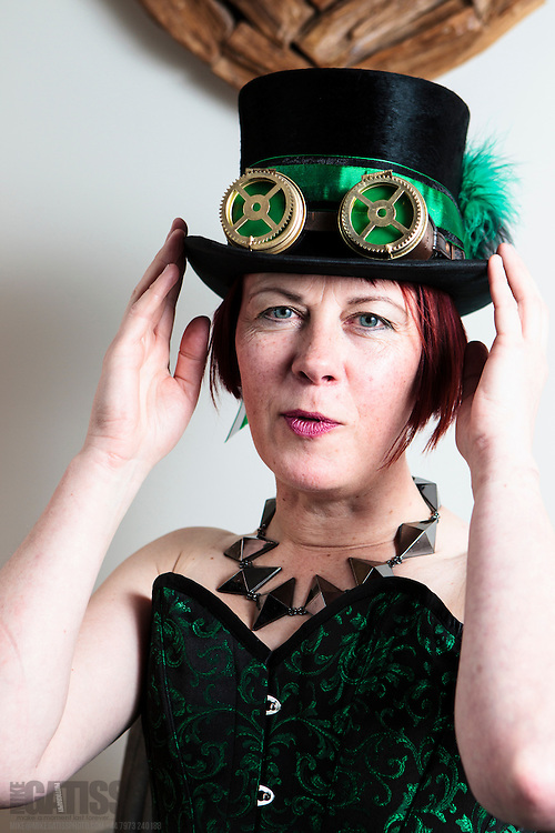 Fun shoot with steampunk fan Sue Westmore