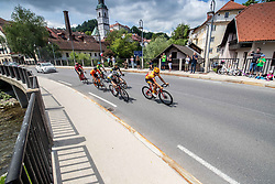 Race Leaders during the 5th Stage of 27th Tour of Slovenia 2021 cycling race between Ljubljana and Novo mesto (175,3 km), on June 13, 2021 in Ljubljana - Novo mesto, Ljubljana - Novo mesto, Slovenia. Photo by Vid Ponikvar / Sportida