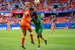 15-06-2019 FRA: Netherlands - Cameroon, Valenciennes<br /> FIFA Women's World Cup France group E match between Netherlands and Cameroon at Stade du Hainaut / Lieke Martens #11 of the Netherlands, Yvonne Leuko #4 of Cameroon