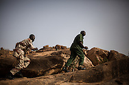 General Abdulaziz (in green) the leader of the Nuban people and the SPLA-North rebels.