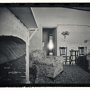 My Grandmother's cottage captured on B/W film October 1981