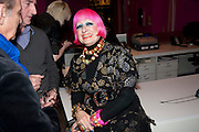 DAVID SASSOON; DAVID REESON; ZANDRA RHODES,  My favorite dress book launch hosted by Susy Menkes and Zandra Rhodes. Fashion Museum. London. In Support of Save the Children. 11 January 2010