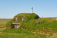 Islande, ferme traditionnelle de Saenautasel // Iceland, traditional farm at Saenautasel