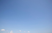 Blue sky in France