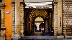 A bar in the Piazza del Nettuno, Bologna, Italy<br /> <br /> (c) Andrew Wilson | Edinburgh Elite media