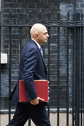 Downing Street, London, December 13th 2016. Communities and Local Government Secretary Sajid Javid leaves the weekly meeting of the cabinet at Downing Street, London.