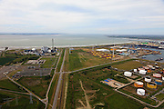 Nederland, Zeeland, Borssele, 22-05-2011; Sloehaven Sloegebied..Kerncentrale en kolencentrale en windmolens. Coal and nuclear power plant and windmills in south-west Netherlands. luchtfoto (toeslag), aerial photo (additional fee required).foto/photo Siebe Swart