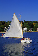 Image of a sailboat at Mystic Seaport, Connecticut, American Northeast by Randy Wells