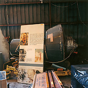 NASA Space Junk Auction. John Glenn's capsule model. This full size mock up of his Friendship 7 Mercury capsule alongside miscellaneous space collectables. This piece alone fetched $35,000 at the previous auction and went to California for restoration and exhibition.