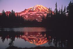 Mt. Rainier in Reflection Lake, Mt. Rainier National Park, Washington, US