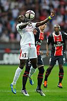 FOOTBALL - FRENCH CHAMPIONSHIP 2011/2012 - L1 - PARIS SAINT GERMAIN v OGC NICE  - 21/09/2011 - PHOTO GUY JEFFROY / DPPI - ERIC MOULOUNGUI (NICE)