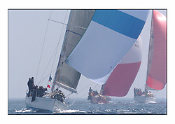 Racing at the Bell Lawrie Yachting Series in Tarbert Loch Fyne. Saturday racing started overcast but lifted throughout the day...Class 1 winners, Crackerjack GBR6R, a Swan 45 ..