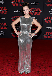 Billie Lourd attends the world premiere of Disney Pictures and Lucasfilm's 'Star Wars: The Last Jedi' at The Shrine Auditorium on December 9, 2017 in Los Angeles, CA, USA. Photo by Lionel Hahn/ABACAPRESS.COM