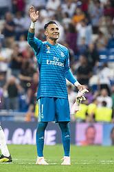 September 19, 2018 - Madrid, Spain - Real Madrid Keylor Navas during UEFA Champions League match between Real Madrid and A.S.Roma at Santiago Bernabeu Stadium in Madrid, Spain. September 19, 2018. (Credit Image: © Coolmedia/NurPhoto/ZUMA Press)
