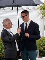 Festival  Director Thierry Frémaux and Director Nicolas Winding Refn at Too Old to Die Young – North of Holywood, West of Hell, Rendez Vous with Nicolas Winding Refn photo call at the 72nd Cannes Film Festival, Saturday 18th May 2019, Cannes, France. Photo credit: Doreen Kennedy