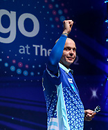 Mario Vandenbogaerde during the BDO World Professional Championships at the O2 Arena, London, United Kingdom on 4 January 2020.