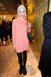 Singer RAMONA at a Cocktail party to celebrate the opening of the new Miu Miu boutique, 150 New Bond Street, London hosted by Miuccia Prada and Patrizio Bertelli on 3rd December 2010.