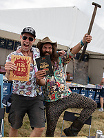 Dj BBQ  at the Big Feastival 2021 on Alex James Cotswolds farm, Kingham oxfordshire pgoto by Michael Butterworth