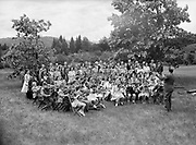 9969-6590. Hood River orchestra and chorus practicing outdoors. June 2, 1946.