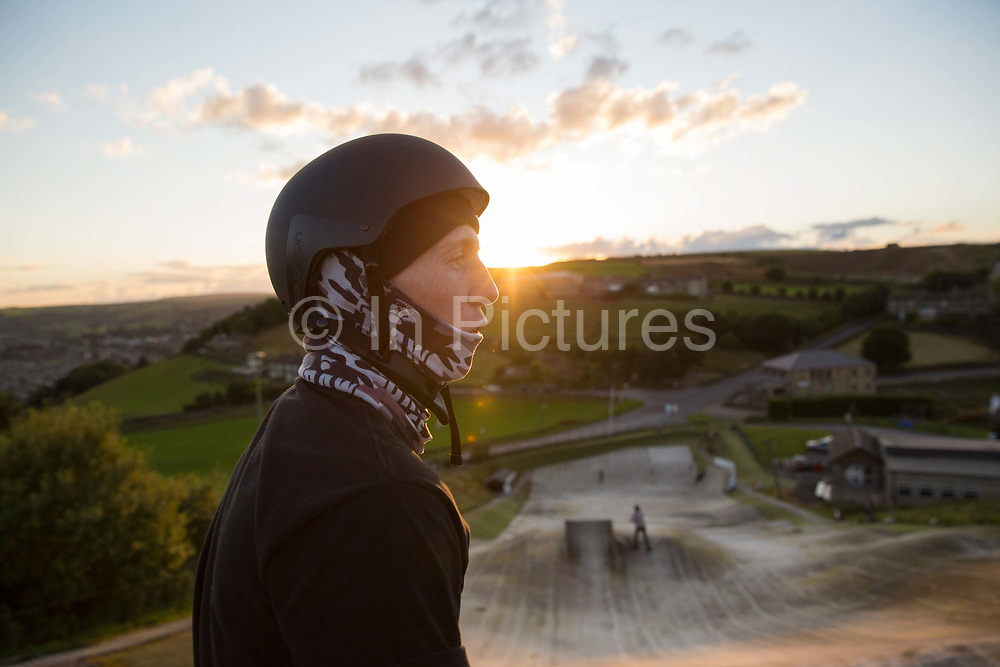 British freestyle skier Tyler Harding at Halifax Ski Centre on 20th July 2017 in Halifax, United Kingdom. Halifax Ski Centre is the spiritual home to many in the UK homegrown ski and snowboard community.