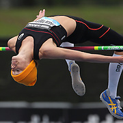 Emma Green Tregaro, Sweden, in action during the Women's High Jump event at the Diamond League Adidas Grand Prix at Icahn Stadium, Randall's Island, Manhattan, New York, USA. 25th May 2013. Photo Tim Clayton