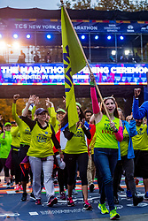 02-11-2018 USA: NYC Marathon We Run 2 Change Diabetes day 1, New York<br /> The day for the opening ceremony / Team Kids