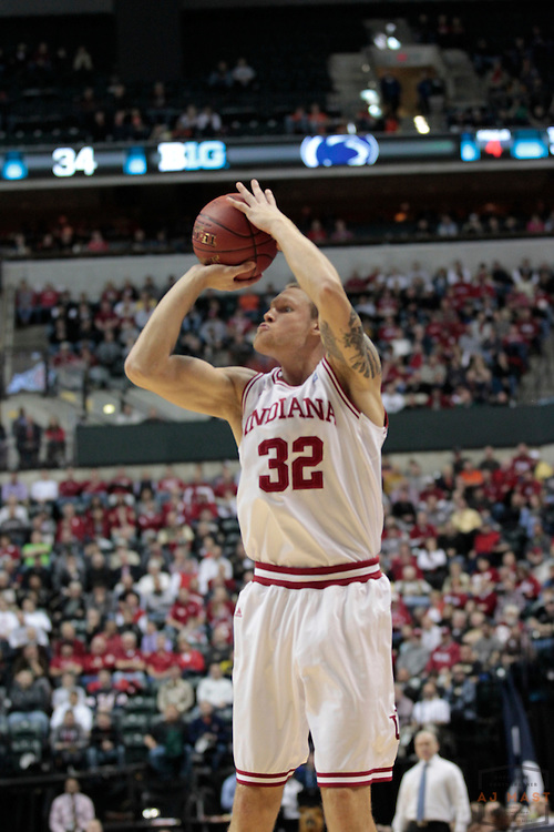 08 March 2012: Indiana Forward Derek Elston (32)  as the Indiana Hoosiers played the Penn State Nittany Lions in a college basketball game during the Big 10 Men's Basketball Championship in Indianapolis