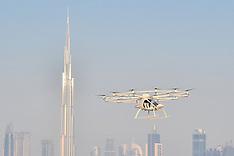 First Autonomous Drone Taxi Test Flight - Dubai - 28 Sep 2017
