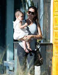 EXCLUSIVE: British exes. Gary Lineker hangs out with ex wife Danielle Bux and her new baby Romy Wren in Los Angeles, CA. 11 Sep 2018 Pictured: Danielle Bux, Romy Wren. Photo credit: MEGA TheMegaAgency.com +1 888 505 6342