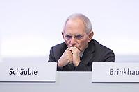 22 NOV 2019, LEIPZIG/GERMANY:<br /> Wolfgang Schaeuble, CDU, Praesident des Deutschen Bundestages, CDU Bundesparteitag, CCL Leipzig<br /> IMAGE: 20191122-01-014<br /> KEYWORDS: Parteitag, party congress, Wolfgang Schäuble